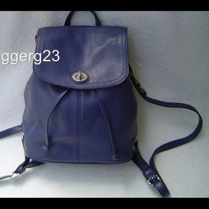 Authentic Coach blue backpack trendy